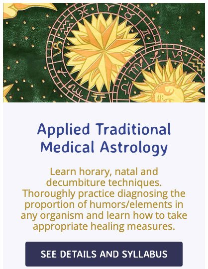 Applied Traditional Medical Astrology Course