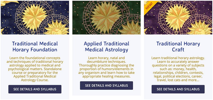 Horary and Medical Astrology Courses